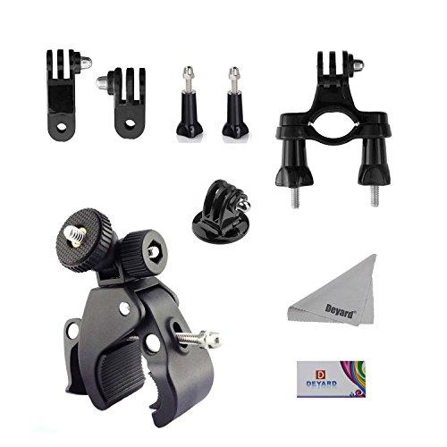 Deyard ZG de 632GoPro Accessories Kit Set of 2for Gopro HD Hero 1, 2, 3y 3+: Head Strap Mount + Chest Harness + J-Hook Mount + 2pcs Thumbscrews + Deyard Superfine Fiber Cloth, color Handlebar Mount