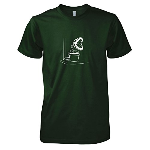(TEXLAB - Piranha Plant - Herren T-Shirt, Größe XL, flaschengrün)