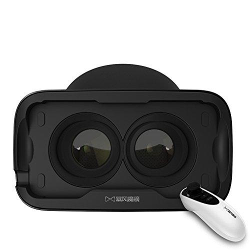 Eine Maschine 3D virtuelle Realität VR Brillen Tragen Helme Mobile Spiele Theatre Anpassung IPD nicht Ghosting ( Color : IOS ) (Mobile Theatre)