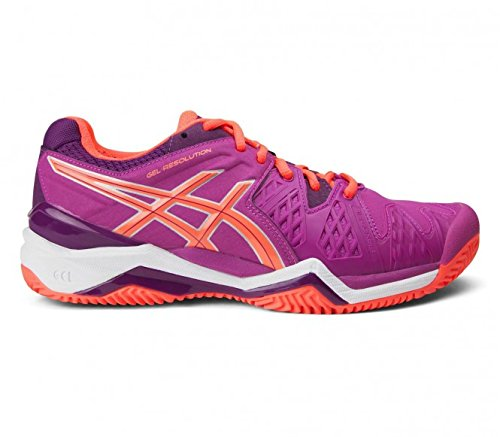 Asics Damen Tennisschuhe Outdoor Gel Resolution 6 Clay Pink (315) 42,5EU