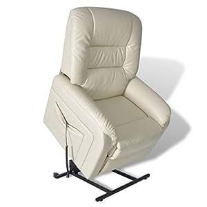 vidaXL Fernsehsessel Elektrisch Relaxsessel Aufstehsessel Sessel + Aufstehhilfe Weiß