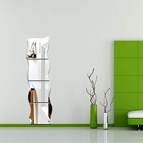 RALCAN Espejo Ondulado Etiqueta De La Pared Dormitorio
