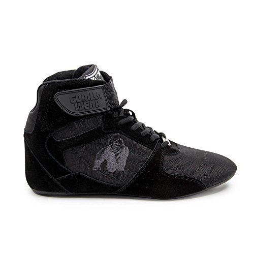 Gorilla Wear Perry High Tops Pro - Black/Black - Schwarz/Schwarz - Bodybuilding und Fitness Schuhe für Damen und Herren, EU 47 (Martial-arts-training-schuh)