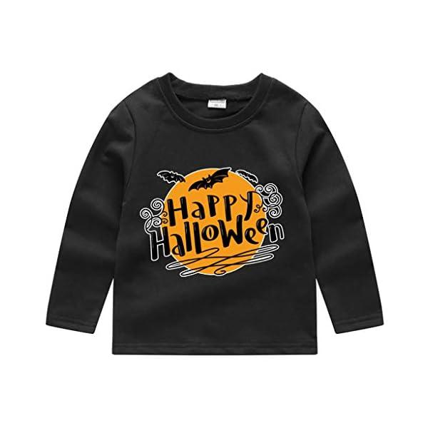 HAOHEYOU T Shirt Tops NiñIto Bebé NiñOs Muchachos Chicas VíSpera De Todos Los Santos ImpresióN Camisa De Entrenamiento… 5