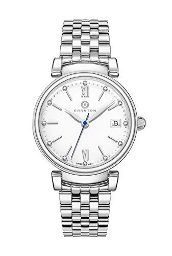 Granton Damen-Armbanduhr COLLECTION IMPERIAL Analog Quarz Farbe weiß Silber, 36mm damenuhr