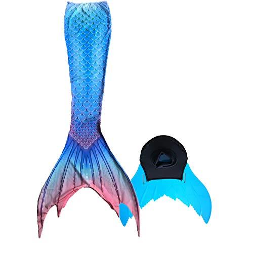 Xyfushi Meerjungfrauenschwanz zum Schwimmen mit Meerjungfrau Flosse