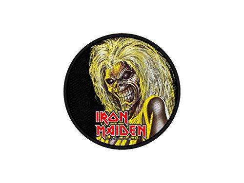 Iron Maiden Patch/Aufnäher - Killers Face Round - Iron Maiden Aufnäher !! (Maiden-t-shirt Iron)