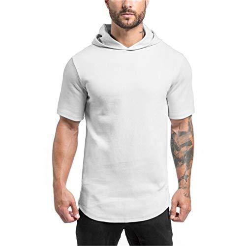 Herren T-Shirt Herren Sommer New Fashion Solid Kurzarm Fitt Sport Top Bluse (Jean Grey Kostüm Für Verkauf)