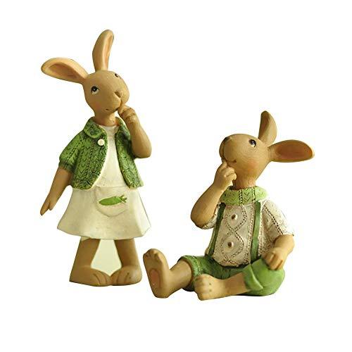 2PCS Green Bunny...