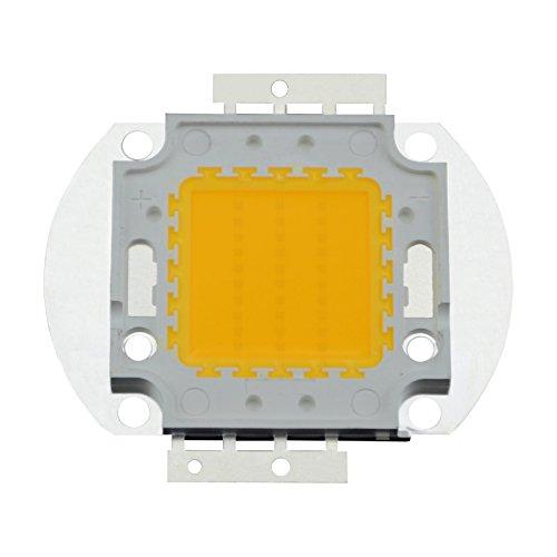 MD-DEAL 1er Set Hochwertiger 38mil LED COB Chip 50 Watt 4500 Lumen warmweiß 3000 Kelvin mit Wärmeleitpaste