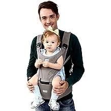 BeeViuc Mochila Portabebé Ergonómica Multifuncion 6 Modos Para Porta Bebe Con Para 3-36 Meses