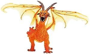 Plastoy - 60240 - Figurine - Le Grand dragon de feu translucide
