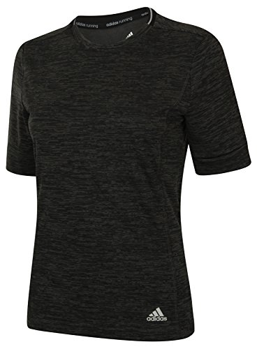 adidas Damen Supernova Shorts Sleeve Laufshirt, Schwarz, M, AI0947 (Laufshirt Sleeve-damen)