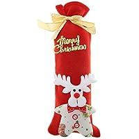 Santa Claus Beutel mit Kordelzug rot Wein Flasche Bezüge für Tisch Abendessen Home Party Dekore 12 PCS Aufbewahren & Ordnen 12PCS Weihnachten Wein Geschenk Taschen