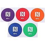 Pegatina de etiqueta - TOOGOO(R)5pzs Lindo 888 bytes Pegatinas de Etiquetas de NFC inteligente para Samsung Galaxy S5 S4 Note 3 Note 4 Sony Xperia Nexus 5 NXP NTAG216 All NFC Smartphones
