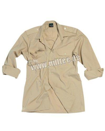 Militär-khaki-hemden (Diensthemd 1/1 Arm T/C khaki M)