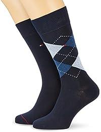 Tommy Hilfiger Th Men Sock Check 2P - Calcetines para hombre