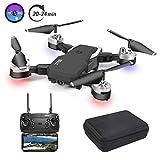3T6B Drone con Telecamera, Videocamera / video 1080P HD FPV, 24 minuti di volo Quadricottero RC Portatile, Modalità Senza Testa a 4 assi Altitudine One Key Ritorna 3D Flip.