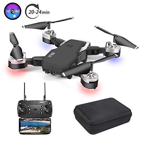 3T6B Drone con Telecamera, Videocamera / video 1080P HD FPV, 24 minuti di volo Quadricottero RC...