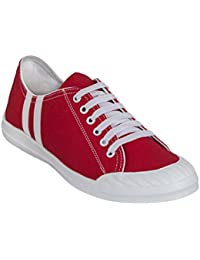 Shoe Mate New Latest Fashionable Stylish Casual Red Color Sneakers Suede Shoes For Men's