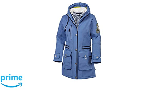 Marinepool Damen Jacke Dahlia Parka, Blue, XL: