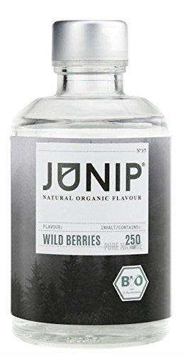 Low Carb Sirup Kaffee (Sirup ohne Zucker Wild Berries Flavour von JUNIP | 100% Natürliches BIO Aroma für Minderalwasser, Tee & Cocktails | Tolle Fruit Infuser Alternative)