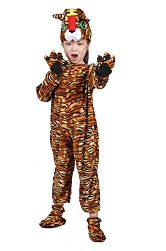 (Matissa Kinder Tier Kostüme mit Kapuze Kostüm Party Unisex Outfit Pyjamas Cosplay (Tiger, XL (Für Kinder von 135-150 cm)))