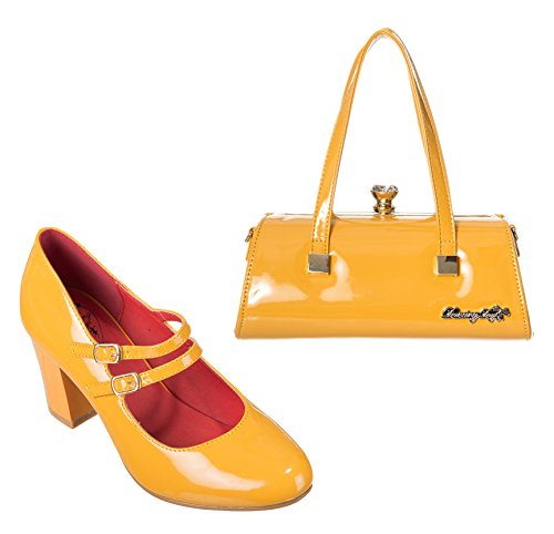 Dancing-Days-Mustard-Emily-Handbag-Golden-Years-Shoes-Set