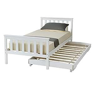 lit simple cadre en bois hst mall lit simple avec gigogne pull out lit tiroir lit d 39 appoint en. Black Bedroom Furniture Sets. Home Design Ideas