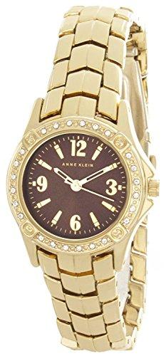 Anne Klein Women's Brown Dial Gold Tone Bracelet Watch AK/2100BNGB