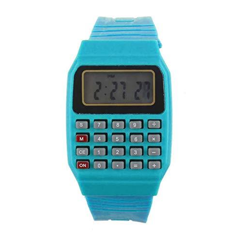 BEIBEILE Kinderuhren Jungen und Mädchen Kinder Taschenrechner Uhr Live LED Uhr Kid Silikon Multi-Purpose Date Time Elektronische Digital Armbanduhr