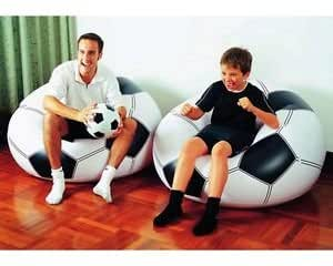 pouf chaise coussin gonflable foot enfant ballon de football (à l'unité)