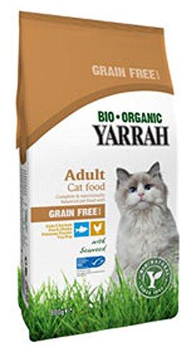 katzeninfo24.de 3er-SET Bio Katzenfutter Trocken Huhn und Fisch Getreidefrei 800g Yarrah