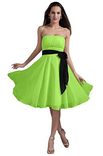 Sunvary Vaso alto elegante Chiffon per basso, da donna, per abiti da sera o da cerimonia, con diamanti Dark Green
