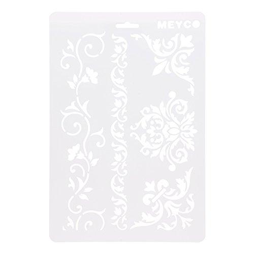 HuntGold ?A4 DIY Handwerk Ranke Blume Schichtung Schablonen Album Stempeln Vorlage Zeichenwerkzeug -