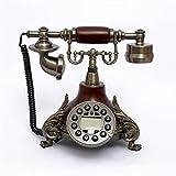 LIZHONGXUAN Antikes Retro- Telefon-Europäische Art- und Weisekreative Prinzessin Phone Home Decoration Festnetz