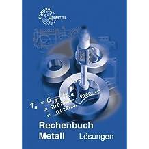 Rechenbuch Metall / Lösungen zu 10307