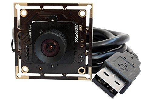 Preisvergleich Produktbild ELP 5MP Webcam USB Aptina CMOS Sensor Plug&Play Mini USB Kamera Modul (100 Grad Objektiv keine Verzerrung)