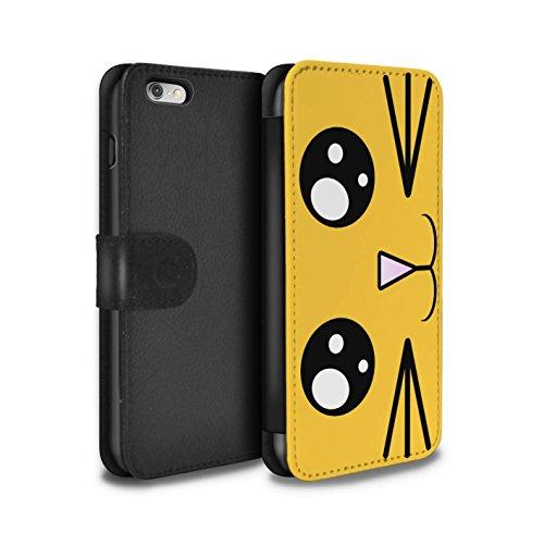 Stuff4 Coque/Etui/Housse Cuir PU Case/Cover pour Apple iPhone 4/4S / Panda Design / Kawaii Mignon Collection Lion