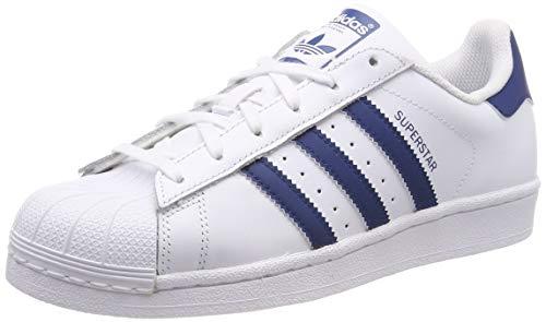 adidas Superstar J Scarpe da ginnastica Unisex bambini, Bianco (Ftwr White/Ftwr White/Legend Marine Ftwr White/Ftwr White/Legend Marine), 38 EU