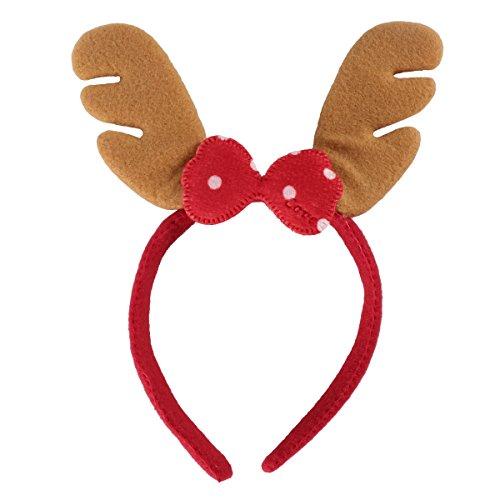 PRETYZOOM Weihnachten Stirnband Rentier Geweih Haarband Weihnachten Kopfschmuck Haarband Weihnachtsfeier Kostüm Haarschmuck