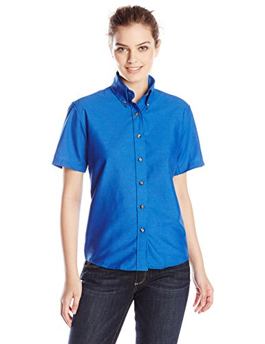 Shirt Womens Blue Royal Dress (Red Kap Women's Short Sleeve Poplin Dress Shirt, Royal Blue, 14)