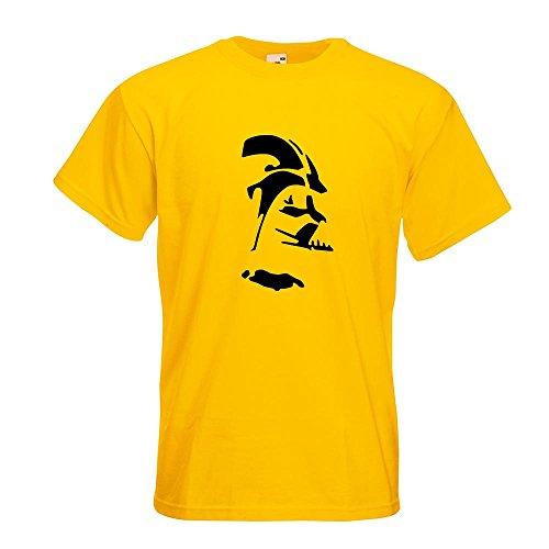 KIWISTAR - Sith Silhouette - Lord Vader T-Shirt in 15 verschiedenen Farben - Herren Funshirt bedruckt Design Sprüche Spruch Motive Oberteil Baumwolle Print Größe S M L XL XXL Gelb
