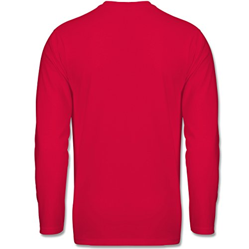Sonstige Sportarten - It's Gameday Vintage Football - Longsleeve / langärmeliges T-Shirt für Herren Rot