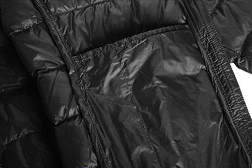 Wantdo Femme - Doudoune Zippée - Capuche - Poche Zippée Noir