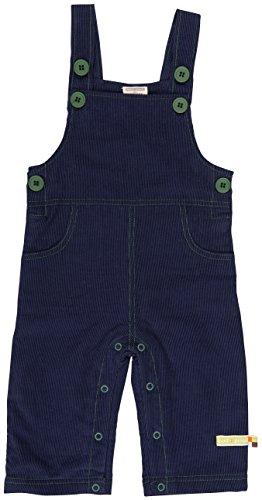 loud + proud Unisex Baby Latzhose Cord, Blau (Midnight Mi), 80 (Herstellergröße: 74/80)