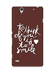 AMEZ to think of you is to smile Back Cover For Sony Xperia C4
