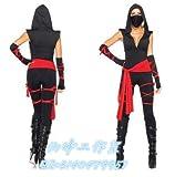WXNLEAI Halloween Europa und Amerika sexy Samurai Cosplay Spiel Anzug weibliche Ninja COS Rollenspiel Kostüm, Stil zwei, M