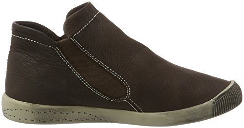 Softinos Damen Inge Smooth Schlupfstiefel Braun (Dk Brown)