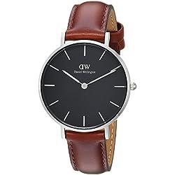 Daniel Wellington Reloj Analógico para Hombre de Cuarzo con Correa en Cuero DW00100181